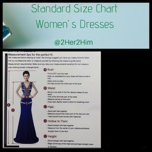 Other - Standard size chart for women's dresses